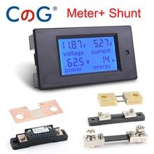 20A/50A/100 EINE Digital DC 6,5-100V Voltmeter Amperemeter LCD 4 in 1 DC Spannung strom Power Energy Meter Detektor Amperímetro Shunt