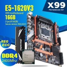 Комплект материнской платы atermiter X99 D4 с Xeon E5 1620 V3 LGA2011 3 ЦП 1 шт. X 16 ГБ = 16 Гб 2400 МГц DDR4 REG ECC RECC память Материнские платы      АлиЭкспресс