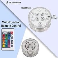 rgb remote control submersible light ip68 waterproof underwater lights pond swimming pool decorative night lamps for aquarium