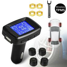 Tire Pressure Monitor High Precision Digital Tire Pressure Monitor LCD Display Car Security Alarm Ti
