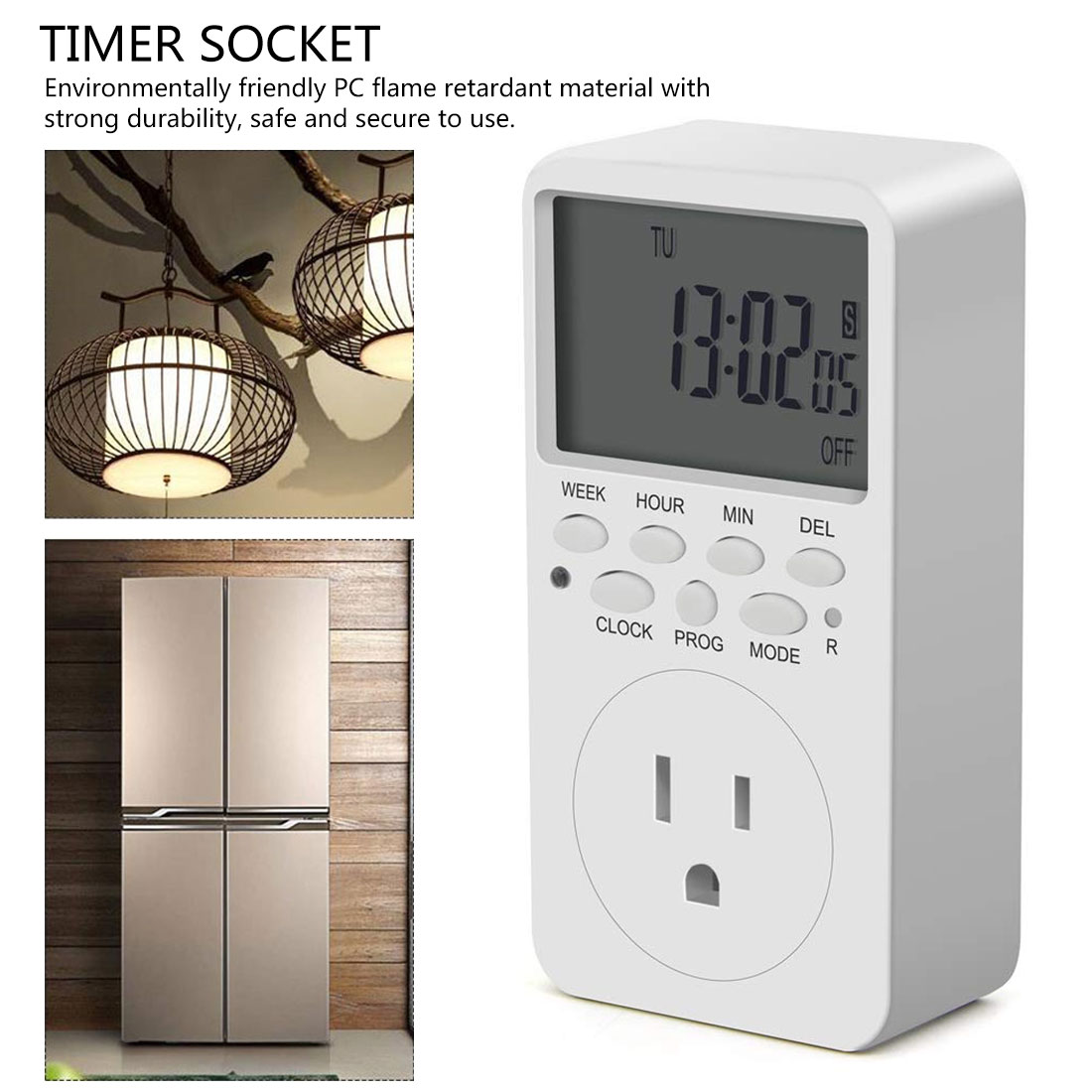 Interruptor cronómetro digital electrónico de 230 V, 120 V, 7 días, 12/24 horas, enchufe UE, Reino Unido, EE. UU., toma de corriente de temporizador programable para Cocina
