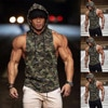 Yeni Spor Spor Nefes Koşu Eğitim Streç Yelek Kamuflaj Giyim Mens Taktik Yelek Hoodie Gömlek