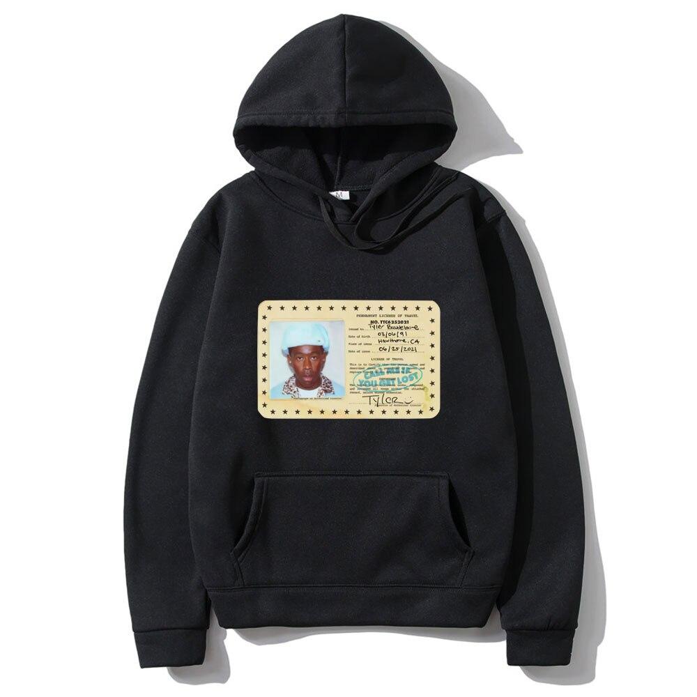 Классические забавные толстовки в стиле 90-х с винтажным Тайлером, Творцом, рэп-певицей, мужские и женские модные черные толстовки с капюшоно...