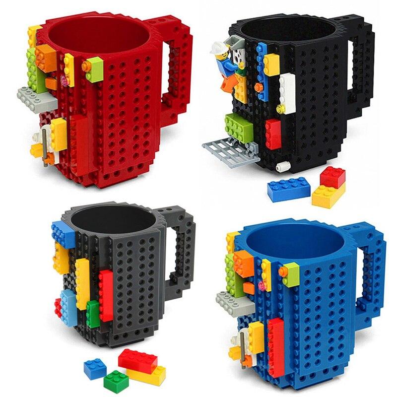 Taza de bloques de 350ML para hacer uno mismo con ladrillos, agua...