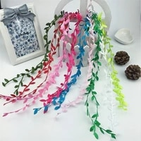 5m long multicolor garland artificial rattan leaves home decoration children woven garland accessories garden fence vine winding