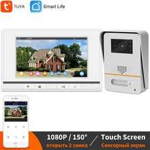 Видеодомофон с Wi-Fi для дома, 7-дюймовый IP-звонок, монитор, 150 °, ИК, камера для дверного звонка, Беспроводная система дистанционного управления...