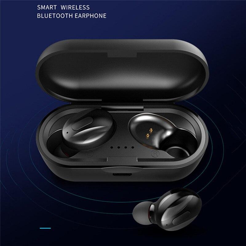 Auriculares inalámbricos TWS 5,0 auténticos auriculares Bluetooth IPX5 auriculares deportivos impermeables 3D auriculares de sonido estéreo con caja de carga