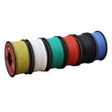 Fil électrique de 20-35m UL3132 24AWG   Isolant en Silicone souple, fil à crochet toronné, cuivre chromé 300V 6 couleurs pour lampe de bricolage