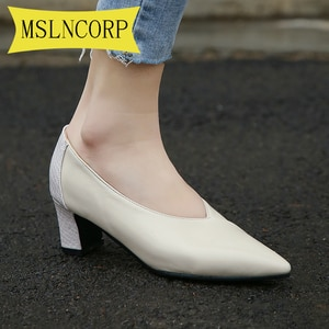 Plus Size 34-46 Sexy Pointed Toe High Heels Women Shoes Autumn Summer Casual Fitted Female Single Fashion V Design Shoes Women