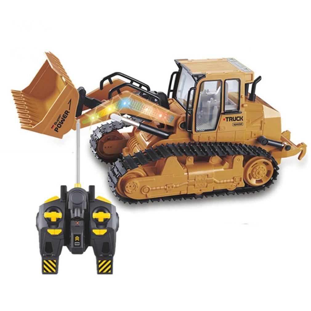 2.4g controle remoto rc escavadeira caminhão brinquedos simulação rc engenharia carro trator rastreador escavadeira brinquedo para crianças presente Caminhões RC    -