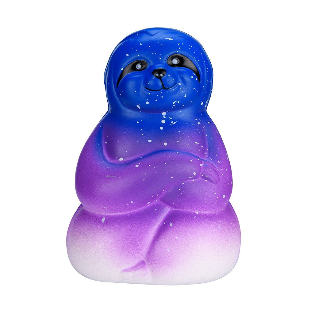 Adorable suave galaxia perezoso lento crecimiento fruta perfumado estrés alivio juguetes divertido eliminar antiestrés dedo mascotas juguete # A