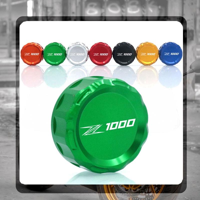 For Kawasaki Z1000 Z 1000 2007-2016 2008 2009 2010 2011 Motorcycle Accessories CNC Aluminum Rear Brake Reservoir Cover Caps