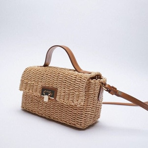 Summer Straw Crossbody Bags For Women 2021 Handmade Woven PU Leather Boho Bag Female Summer Beach Holiday Bohemia Shoulder Bags