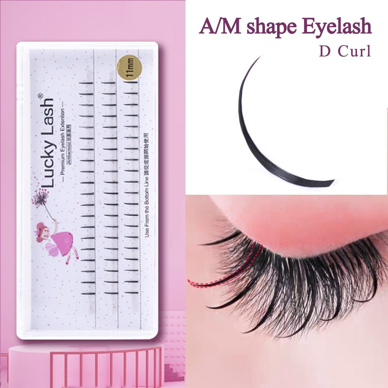 INS HOT A/M Shape D Curl Magic Cilia Eyelash for Makeup, Fairy eye lash false mink individual eyelas