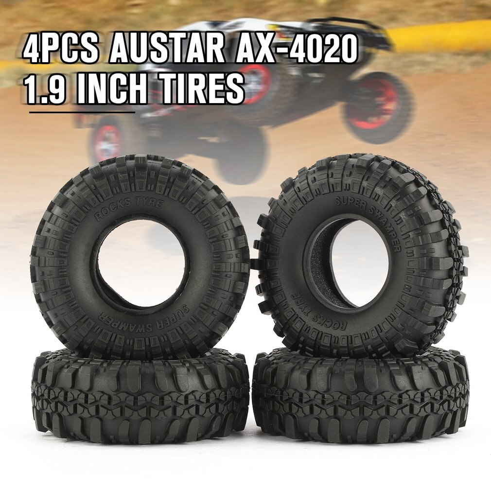4 Pcs RC Car Tires 1.9 Inch 110mm Rubber 1/10 Rock Crawler Tires Tyre for D90 SCX10 AXIAL RC4WD TF2 RC Car Parts&Accessories New enlarge