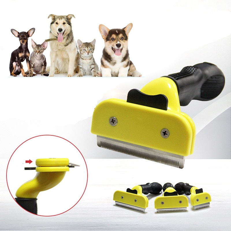 Comfortable Pet Hair Removal Comb Cats Dog Grooming Puppy Kitten Shedding Trimmer Combs Brush Tools