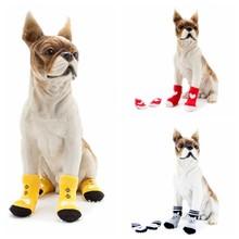Autumn And Winter Pet Dog Cute Bear Bow Tie Heart Dog Pet Socks Bottom Cat Shoes Hot Puppy Anti Slip Sock