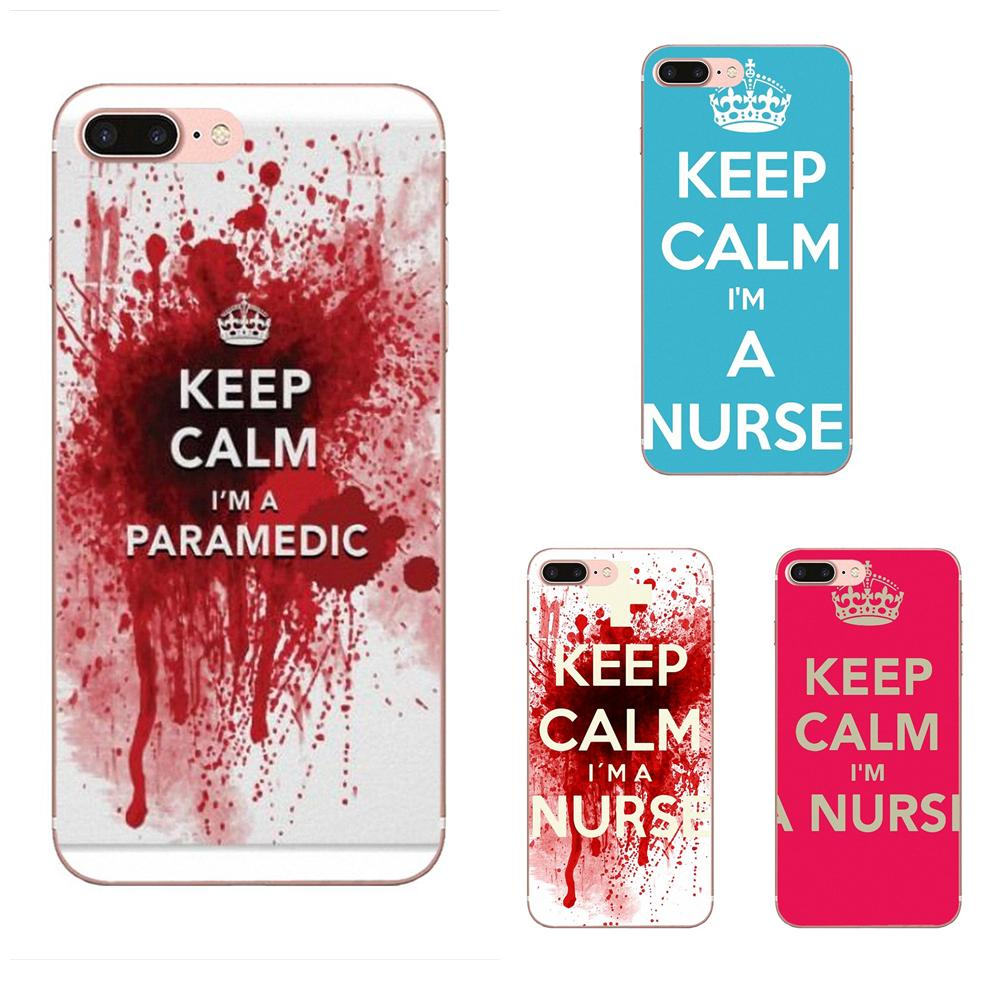 Mantener la calma y soy una enfermera para Samsung Galaxy A10 A20 A20E A3 A40 A5 A50 A7 J1 J3 J4 J5 J6 J7 2016, 2017 de 2018 suave TPU caso