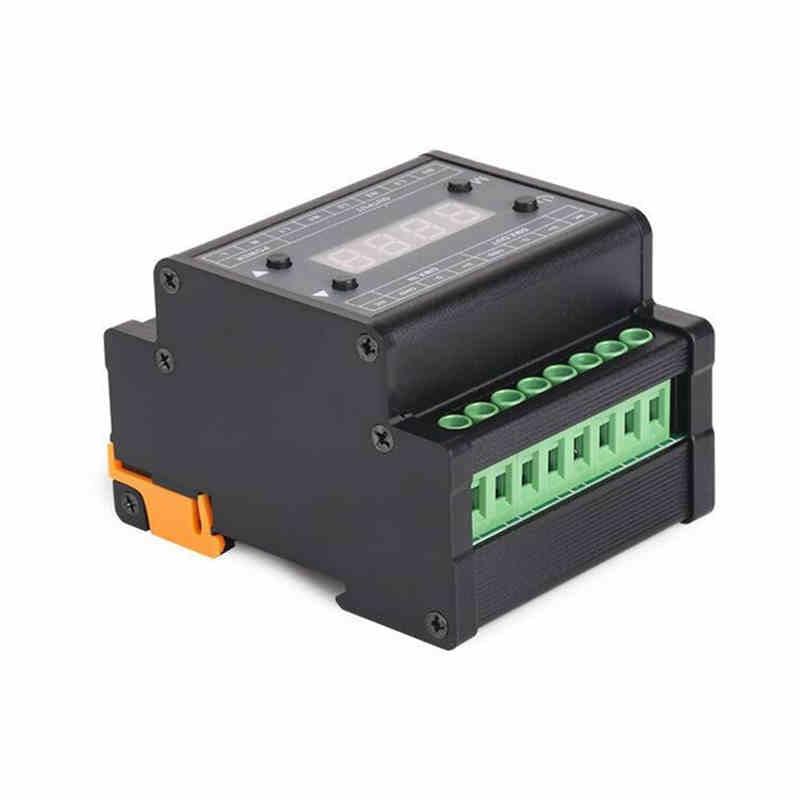 CLAITE AC90-240V 3 canales DMX LED Dimmer Triac controlador para iluminación de tira adopta grado Industrial Transistor MOS