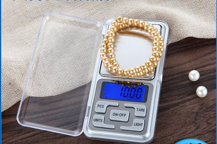 ميزان رقمي صغير بإضاءة خلفية 100 جرام ، 100 جرام ، 200 جرام ، 500 جرام ، 0.01 جرام ، للمجوهرات ، الوزن جرام للمطبخ ، 0.1 قطعة