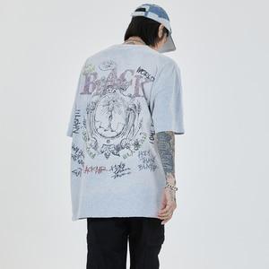 Graffiti t shirts men harajuku HIP HOP oversized t shirt womens graphic t shirts summer Cotton Tops Tees 2197