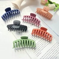 new korean solid big hair claws elegant frosted acrylic hair clips hairpins barrette headwear for women girls hair accessories