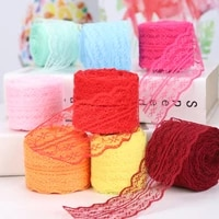 10 meters clothing decoration accessories linen roll diy handmade materials color mesh lace 4 5cm
