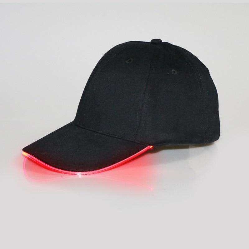 Gorras de béisbol con luz LED para hombres y mujeres, gorras de béisbol con visera curvada, gorras de béisbol de Color sólido, gorras deportivas ajustables para exteriores