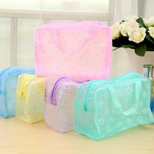 Portable Floral Print Waterproof Translucent Portable Makeup Cosmetics Storage Bag Pouch Special Pur