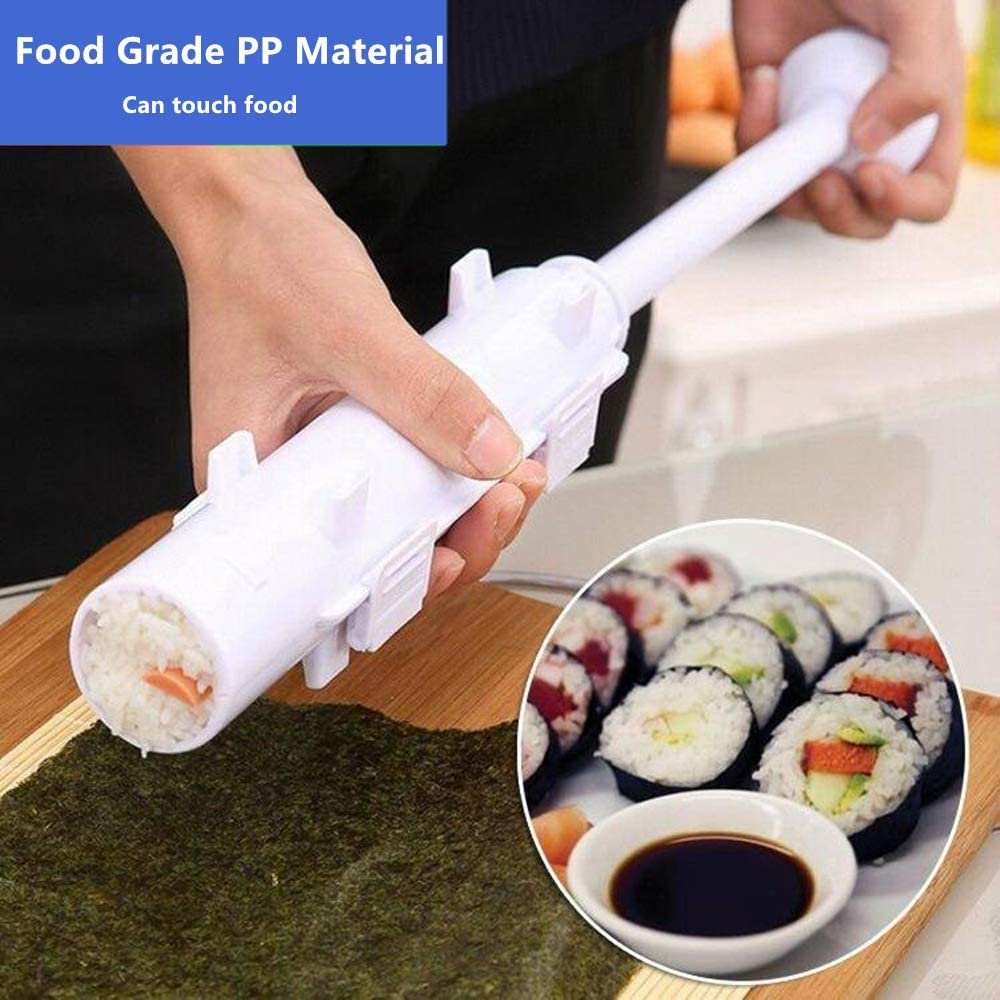 Quick Diy Sushi Maker Set Machine Rice Mold Bazooka Roller Kit Vegetable Meat Rolling Tool DIY Kitchen Tools Gadgets Accessories