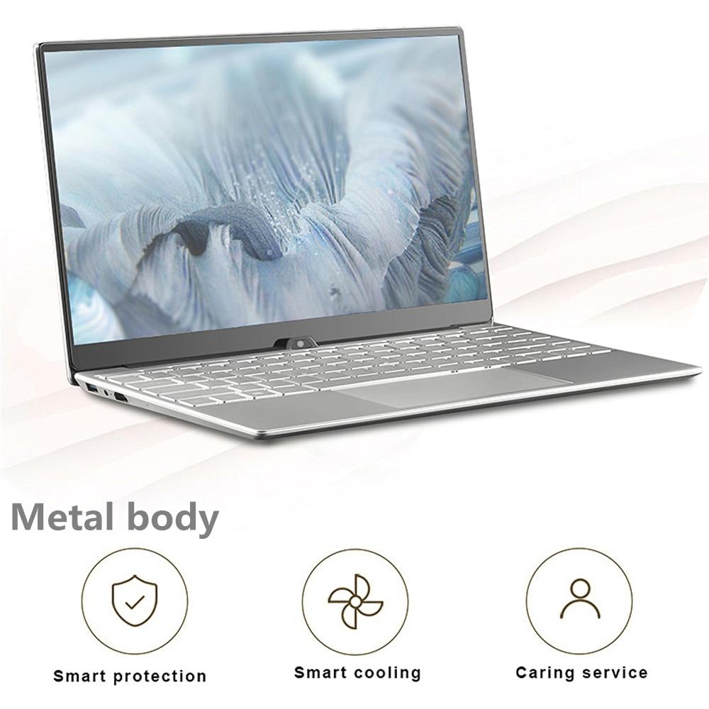 Get Max RAM 32GB Rom 2TB SSD Ultrabook Gaming Laptop Computer 2.4G/5.0G Wifi  Bluetooth Intel Celeron 5205U Metal Windows 10 Laptop