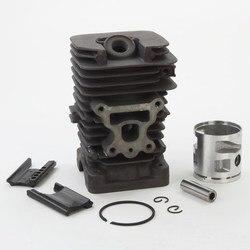 Kit de cilindro cromado 41mm, parceiro mcculloch mac gato 742 840 842 motosserra pistão pinos conjunto