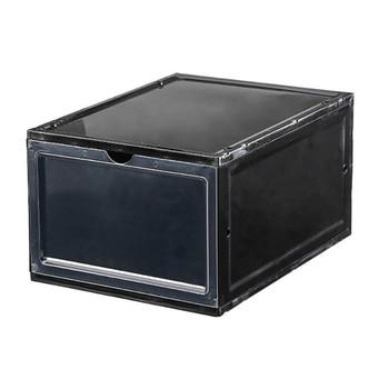 Transparent Box Storage Box Folding Thick Dustproof Shoe Storage Box Stacking