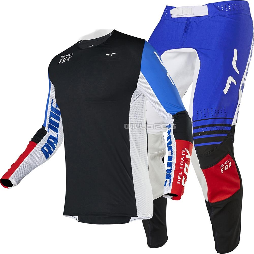 2020 Flex Air Delicate Fox Motocross Motorcycle Gear Set Street Moto Riding Suit For Men