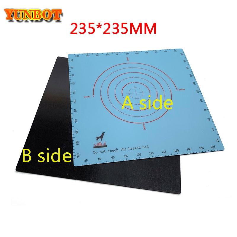 235x235mm Magnetic Print Bed Sticker Coordinate Printed sticker For Creality Eeder-3pro ender-3s Tarantula Pro printer 3d parts