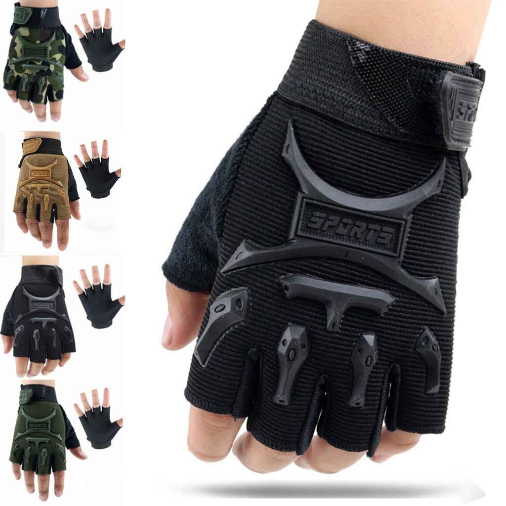 New Cycling Anti-slip Anti-sweat Men Women Half Finger Gloves Breathable Anti-shock Outdoors Sports Training Glove