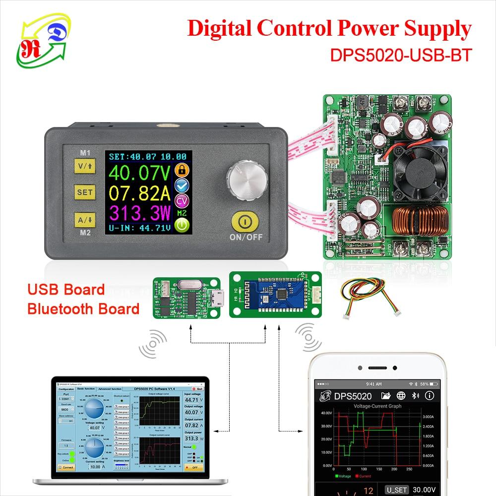 DPS5020 voltaje constante corriente dc-dc Step-down comunicación fuente de alimentación voltaje convertidor LCD voltímetro 50V 20A