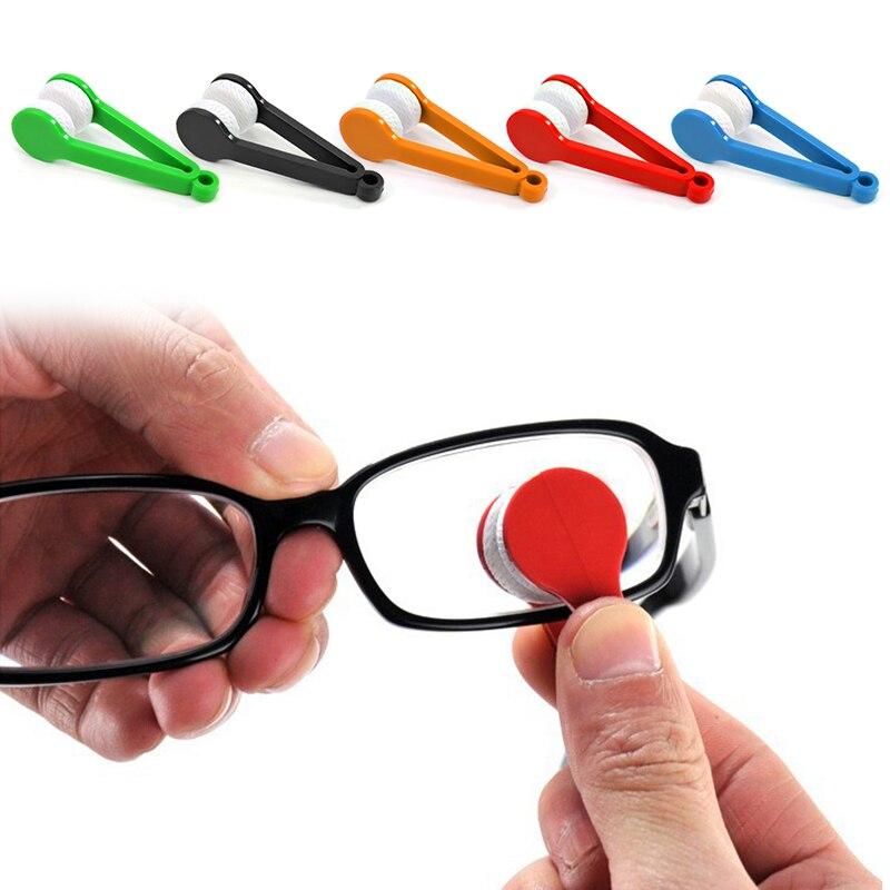 1/2 pces mini microfibra óculos de sol de dois lados escova de óculos de proteção de óculos de limpeza escova esfregue óculos de limpeza ferramenta limpa escova