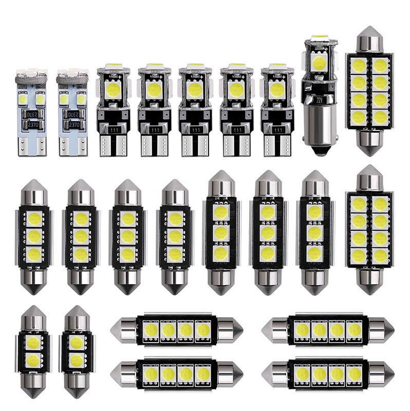 Set of 23pcs automobile LED indoor lamp T10 set of decoding CANbus double point 5050 rear view lamp