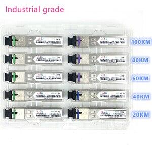 SC SFP Fiber optic module Industrial grade -40~+80 Celsius 1.25G20/40/60/80/100KM 1310/1490/1550nm  compatible optical module