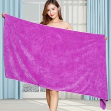 Beauty Salon Bath Towel and Face Towel Massage Quick-Dry Special Large Towel Thick Microfiber Absorb
