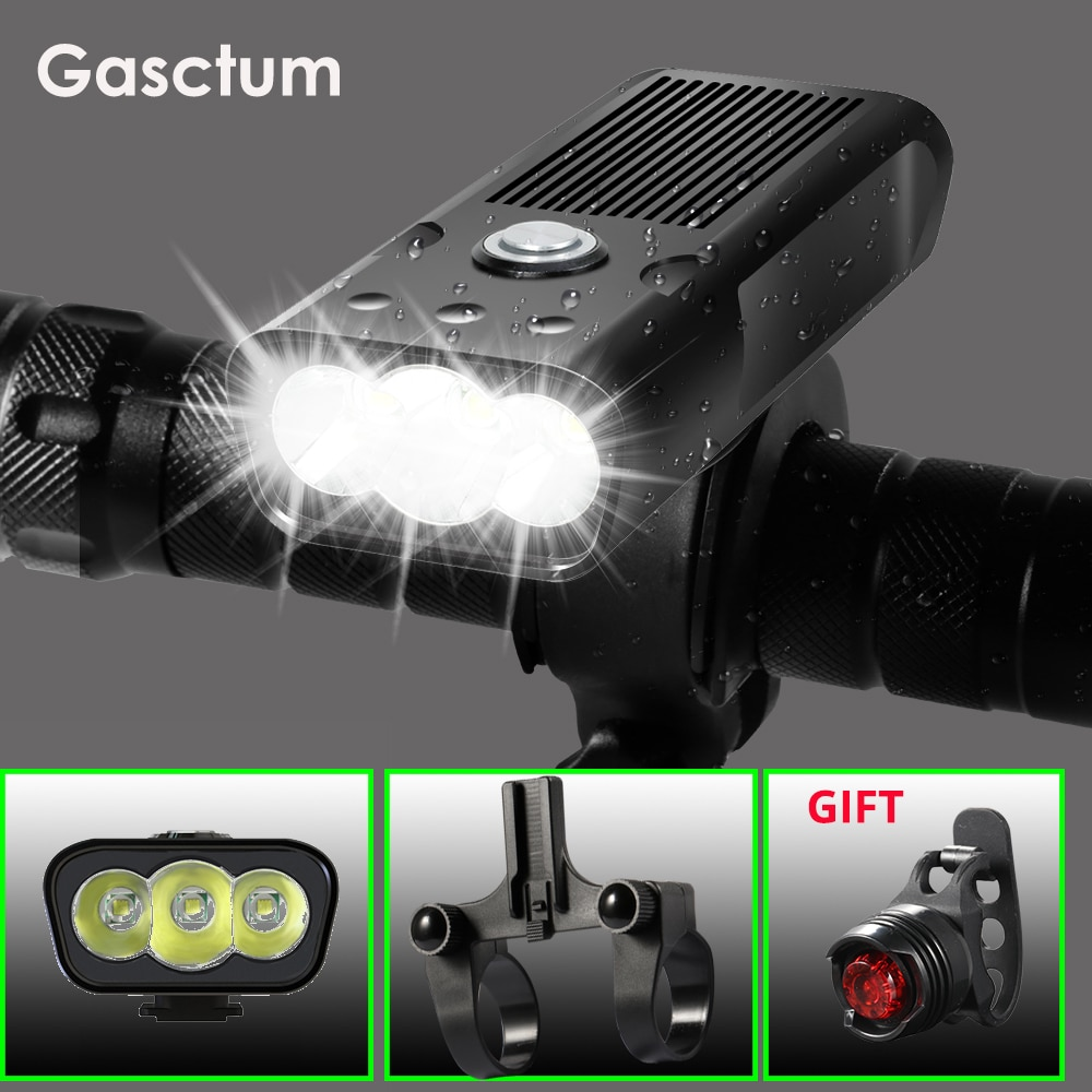 Super Bright Bicycle Light L2/T6 USB Rechargeable 5200mAh Bike Light Waterproof LED Headlight Power Bank Bike Accessories