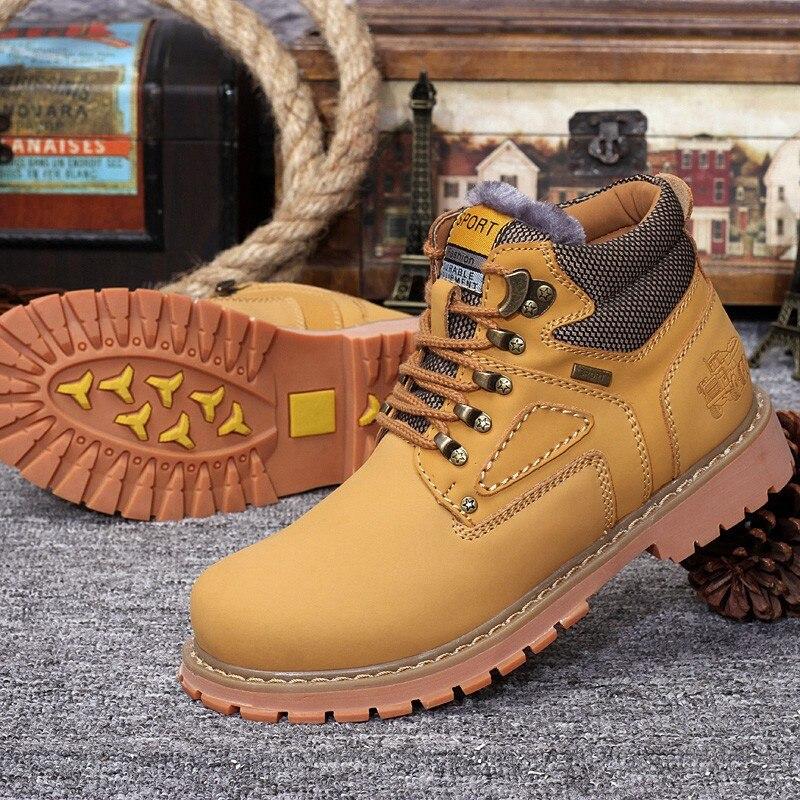 Botas de hombre de cuero genuino de moda Zapatos casuales marrón de lujo 2019 nuevo Otoño Invierno hecho a mano botas de tobillo de hombre ejército
