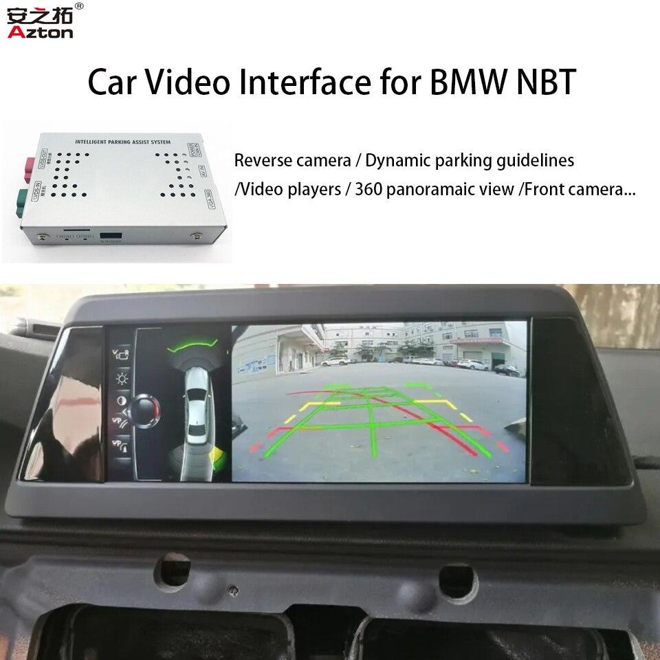 Coche cámara de aparcamiento Asistente de Interfaz de vídeo para BMW NBT serie 1 2 3 4 5 7 X1 X3 X4 X5 X6 MINI 2013-2017