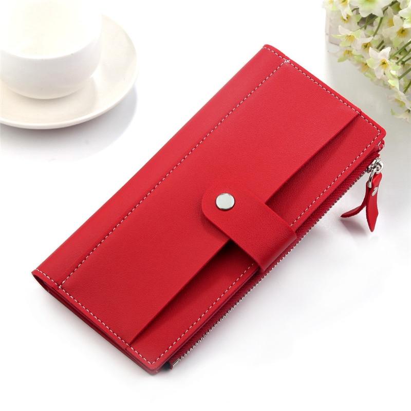 AliExpress - 2021 Luxury Brand Women Wallets Long Fashion Fastener Hasp PU Leather Wallet Female Purse Clutch Money Women Wallet Coin Purse