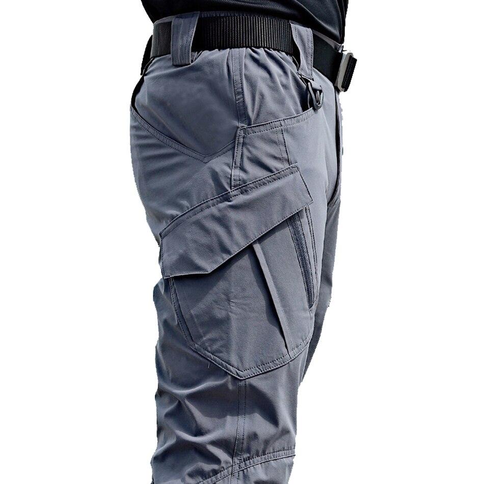 Брюки-карго мужские в стиле милитари, эластичные тактические штаны с несколькими карманами, облегающие брюки-карго, 5XL