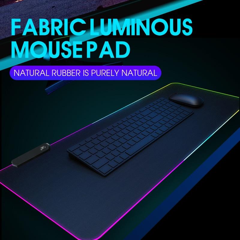 RGB игровой коврик для мыши, компьютерный геймерский коврик для мыши, большой игровой резиновый нескользящий коврик для мыши, большой коврик ...