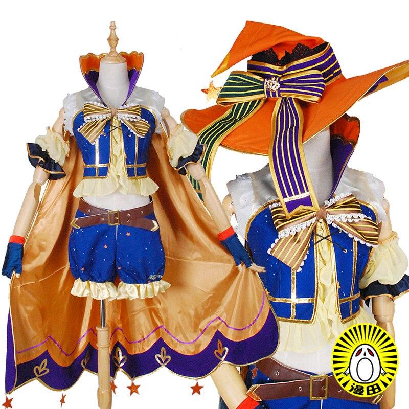 Se puede adaptar a Anime Love Live. Cosplay Hanayo Koizumi Cos Halloween fiesta alta calidad dulce Kawaii uniforme conjunto disfraz