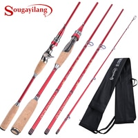 Sougayilang 2.1M ספינינג ליהוק חכת דיג עם 24Ton פחמן קו מדריך קל במיוחד נייד נסיעות דיג מוט