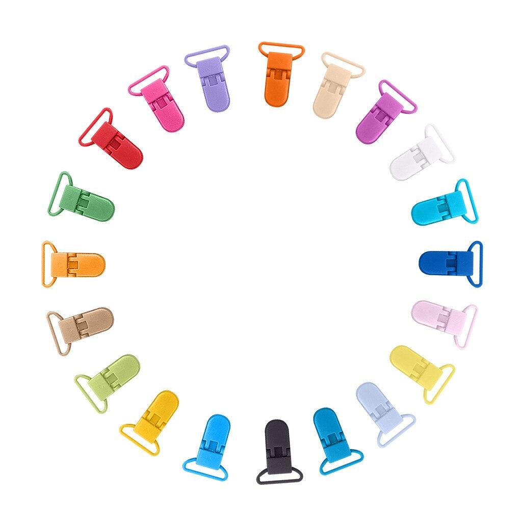 20 Uds. Clip de plástico de 25mm Clip de botella de alimentación camisola Color 34 casero Woker DIY Clips de plástico Clips de ropa Masker